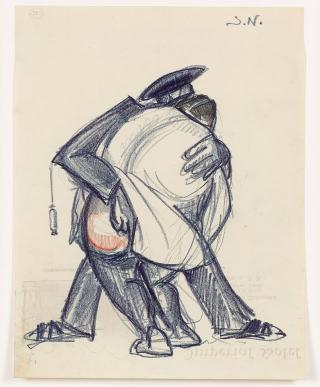 Sergei Eisenstein. Untitled, c1931. Coloured pencil on paper, 10.67 x 8.27 in (27.1 x 21 cm). Private collection. Courtesy Alexander Gray Associates, New York and Matthew Stephenson, London.
