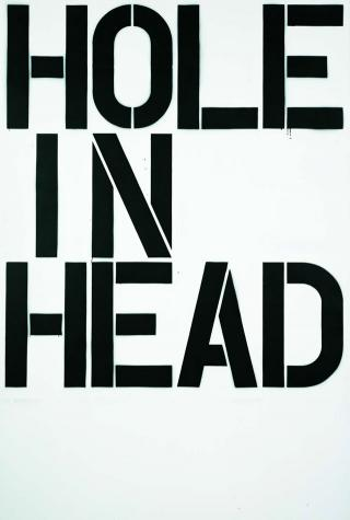 Christopher Wool. Head, 1992. Enamel on aluminium, 274 x 183 cm (107.8 x 72 in). Courtesy Astrup Fearnley Collection, Oslo, Norway.