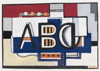 Fernand Léger. ABC, 1927. Gouache on paper, 19.4 x 27.8 cm. Tate: Presented by Gustav and Elly Kahnweiler 1974, accessioned 1994. © ADAGP, Paris and DACS, London 2018.