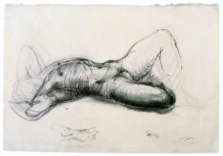 Henry Moore, Reclining Male Nude, c1922. Drawing. Reproduced by permission of The Henry Moore Foundation. © The Henry Moore Foundation. Photo: Michel Muller.