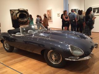 Sir William Lyons, Malcolm Sayer, William M. Heynes. E-Type Roadster, 1961. Jaguar Ltd, Coventry, England. Steel body, 48 x 66 x 176 in (121.9 x 167.6 x 447 cm). Gift of Jaguar Cars. Photograph: Jill Spalding.