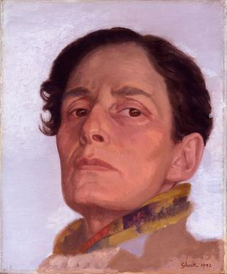 Hannah Gluckstein. Gluck, 1942. Oil on canvas, 30.6 x 25.4 cm. © National Portrait Gallery.
