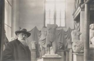 Rodin in his Museum of Antiquities at Meudon on the outskirts of Paris, about 1910. Photograph: Albert Harlingue. Image © Musée Rodin.