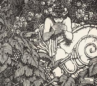 William Heath Robinson. Playing on Pipes of Corn and versing Love, 1914 (detail). Photograph: © Royal Academy of Arts, London.