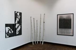 Trinity Buoy Wharf Drawing Prize 2020, installation view Cooper Gallery. 2020. Photo: Eoin Carey. Courtesy Cooper Gallery DJCAD and Trinity Buoy Wharf Drawing Prize.