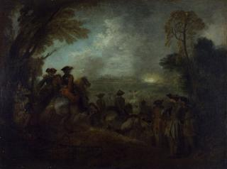 Jean-Antoine Watteau. The Line of March, c1710. Oil on canvas, 15 3/8 x 19 5/6 in. York Museums Trust (York Art Gallery), York.