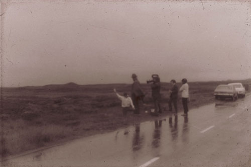 "Joseph Beuys on The Moor of Rannoch, the place which inspired him to create his moor ""action"" on 13 August 1970."
