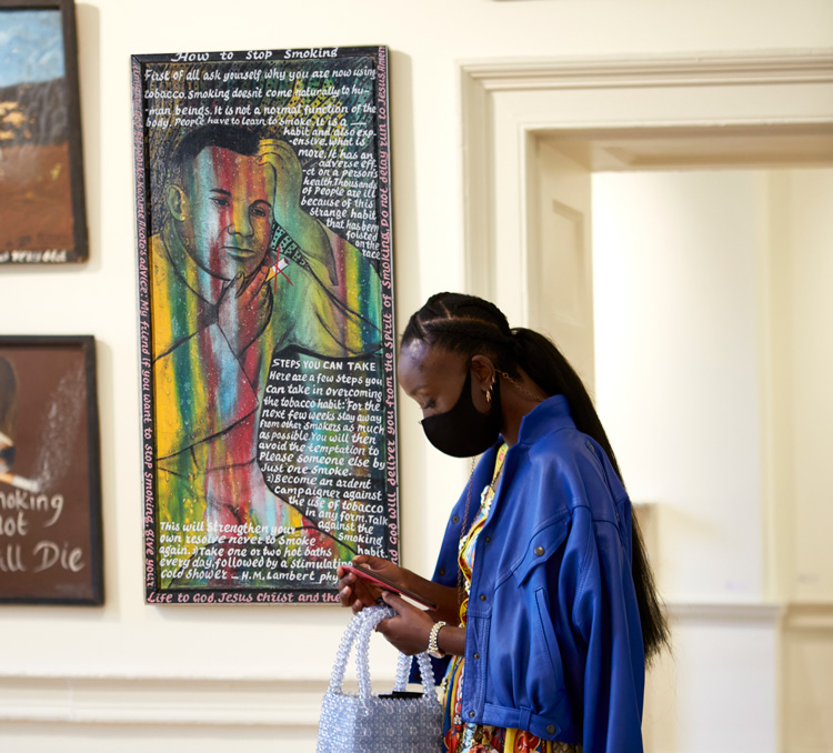 Gallery of Everything, installation view, 1-54 Contemporary African Art Fair, London 2020. Photo: Rocio Chacon.