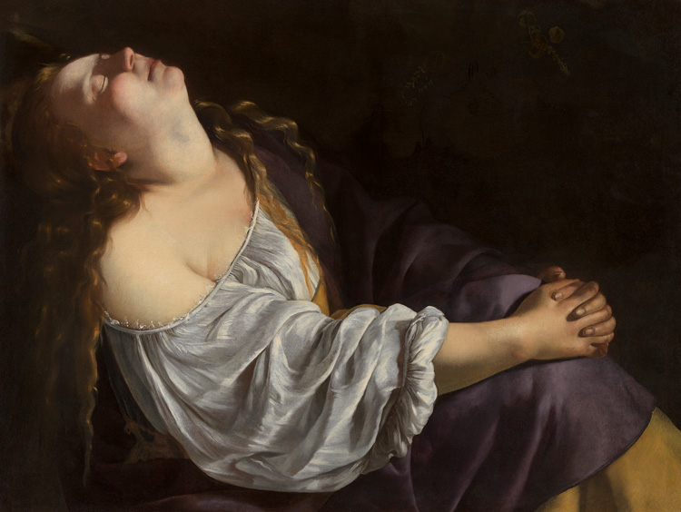 Artemisia Gentileschi. Mary Magdalene in Ecstasy, c1620-25. Oil on canvas, 80 × 106 cm. Private European collection. © Photo: Dominique Provost Art Photography - Bruges.