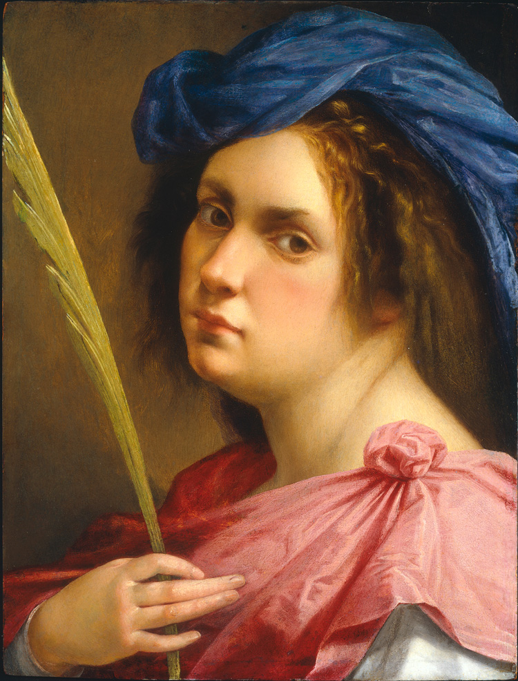 Artemisia Gentileschi. Self Portrait as a Female Martyr, c1613-14. Oil on panel, 31.8 × 21.8 cm. Private collection. © Photo courtesy of the owner.
