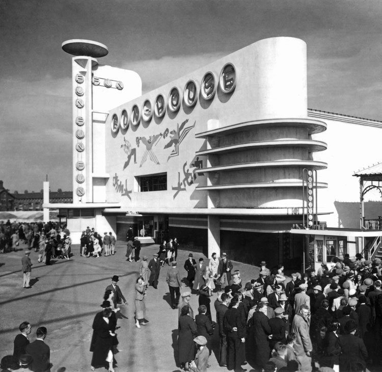 Funhouse, Blackpool Pleasure Beach Joseph Emberton, 1935. Photograph lent by the Bruce Peter Collection.