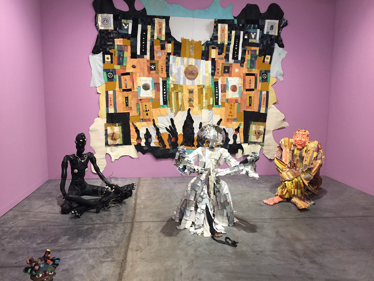 Tau Lewis. Installation view, Art Basel Miami Beach 2019. Photo: Jill Spalding.