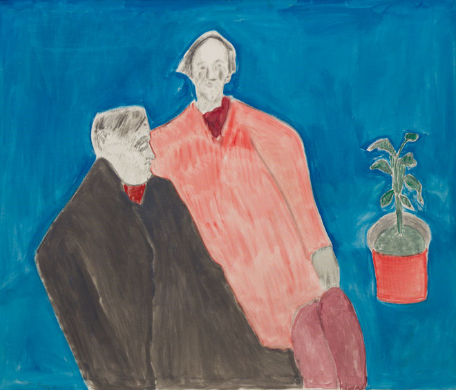 Milton Avery. Two Poets, 1963. Oil on canvas, 127 x 152.4 cm (50 x 60 in). Courtesy Victoria Miro, Venice.