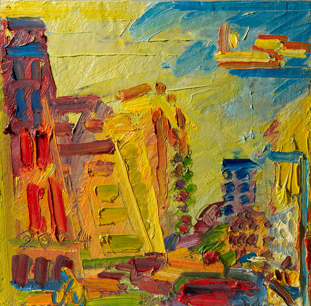 Frank Auerbach. Mornington Crescent, Summer Morning II, 2004. Ben Uri Collection. Copyright the artist, courtesy Marlborough Gallery, London.