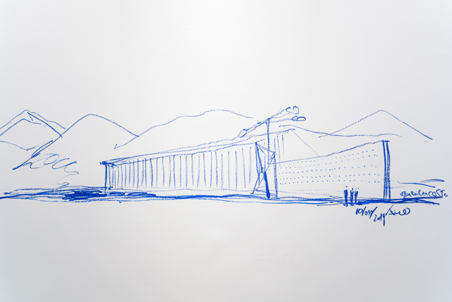 Tadao Ando – Emaki Drawings, installation view, Château La Coste, Provence, France.