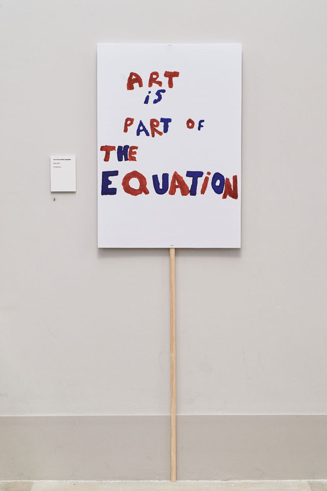 Art is Part of the Equation by Tony Allan, Action Space. Photo: Justine Trickett.