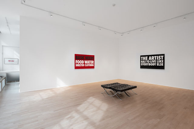 Billy Apple, The Artist Has to Live Like Everybody Else, 1962–2018, installation view, The Mayor Gallery, London 2018.