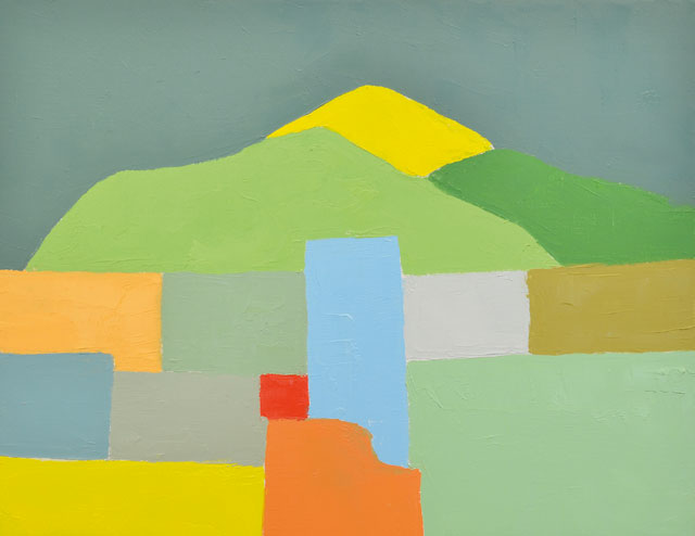 Etel Adnan. Untitled, 2012. Oil on canvas, 32 x 41 cm. Private collection, Hamburg; courtesy Sfeir-Semler Gallery, Hamburg / Beirut.