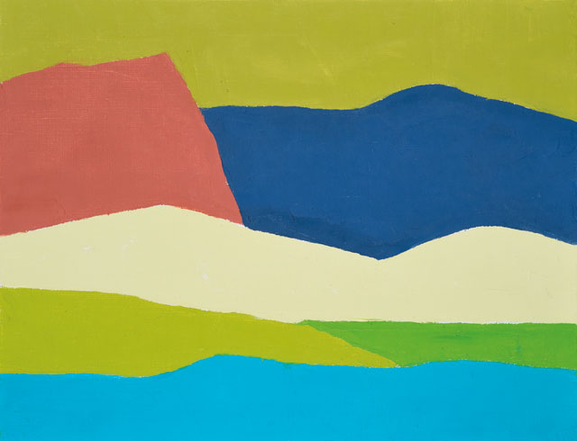 Etel Adnan. Untitled, 2014. Oil on canvas, 32 x 41 cm. Collection Claude & France Lemand, Paris, copyright Etel Adnan. Courtesy Galerie Claude Lemand, Paris.