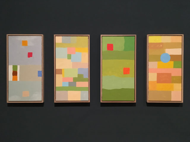 Etel Adnan. Four Seasons, 2018. Photo: Veronica Simpson.