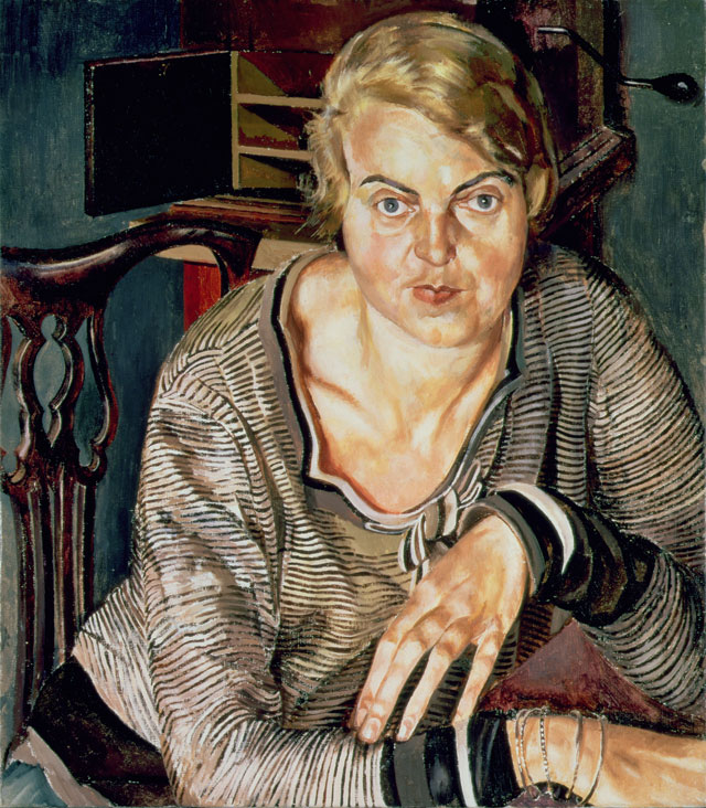 Stanley Spencer. Patricia Preece, 1933. Oil paint on canvas, 83.9 x 73.6 cm. Southampton City Art Gallery, Hampshire. © The Estate of Stanley Spencer/Bridgeman Images.