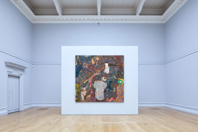 Michael Armitage, The Chapel, installation view at the South London Gallery, 2017. Photograph: Andy Stagg.