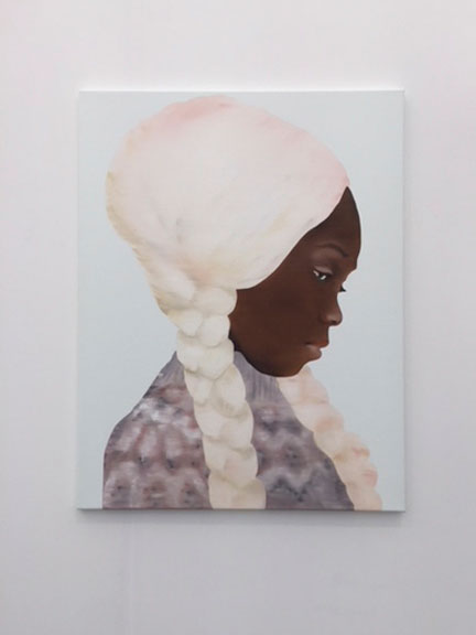 Amy Sherald. Portrait of a young girl. Photograph: Jill Spalding.