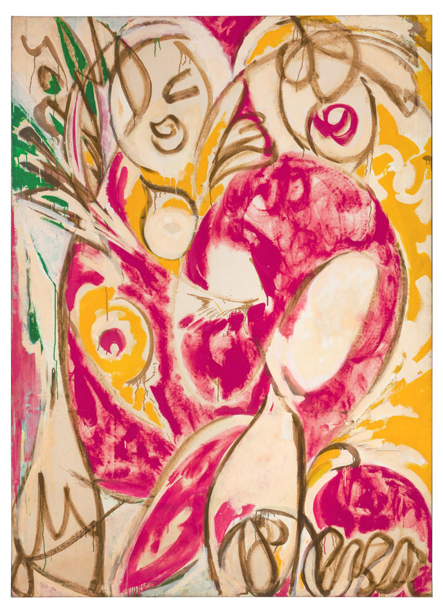 Lee Krasner. Sun Woman 1 (detail), 1957. Oil on canvas. Photograph: Jill Spalding.