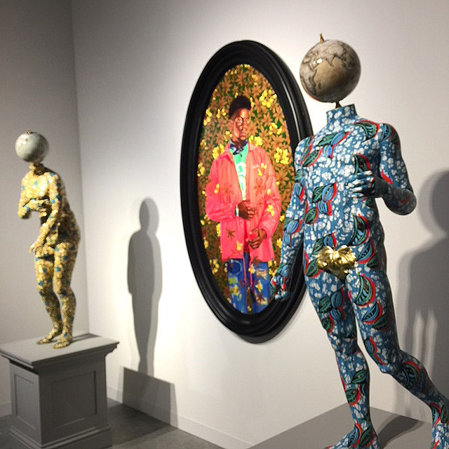 Kehinde Wiley and Yinke Shonibare. Installation view. Photograph: Jill Spalding.