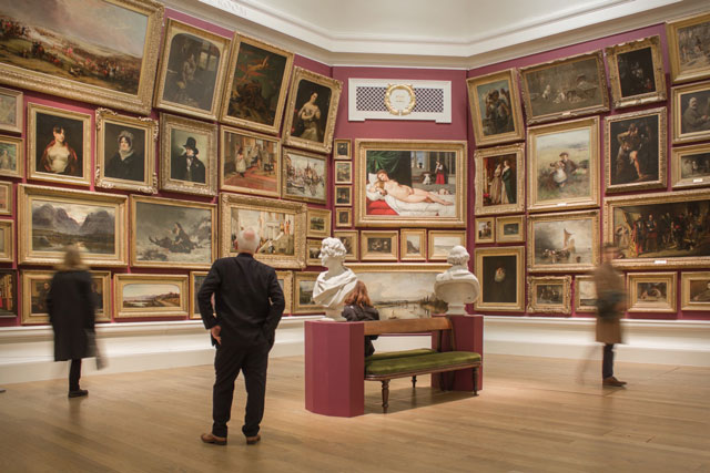 Ages of Wonder – Scotland's Art 1540 to Now, installation view, Gallery III, salon hang.