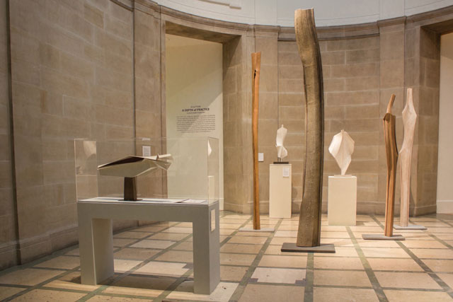 Ages of Wonder – Scotland's Art 1540 to now, installation view, Sculpture Court (west), Keith Rand studio gift.
