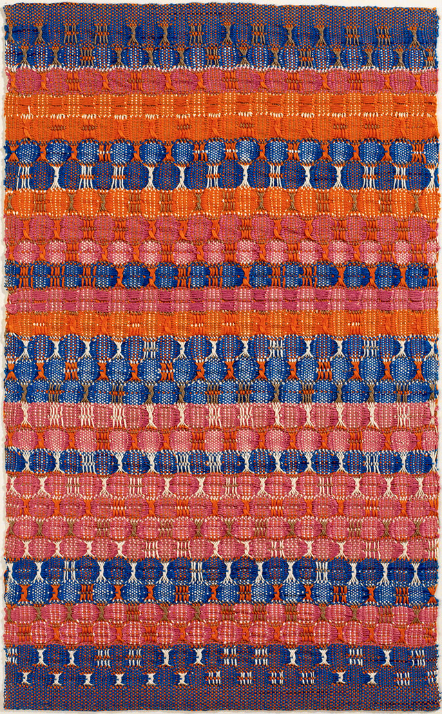 Anni Albers. Red and Blue Layers, 1954. Cotton, 61.6 x 37.8 cm. The Josef and Anni Albers Foundation, Bethany CT. Photograph: Tim Nighswander/Imaging4Art. © The Josef and Anni Albers Foundation, VEGAP, Bilbao, 2017.