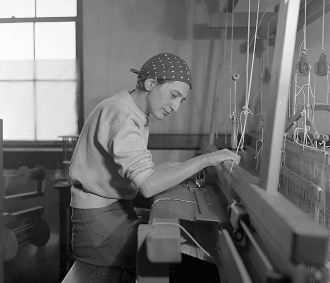 Remaining committed to the Bauhaus ideals of uniting art and design as one field of form-production, Anni Albers's pictorial weavings and later graphic prints promoted the egalitarian dissemination of artistic forms and prototypes