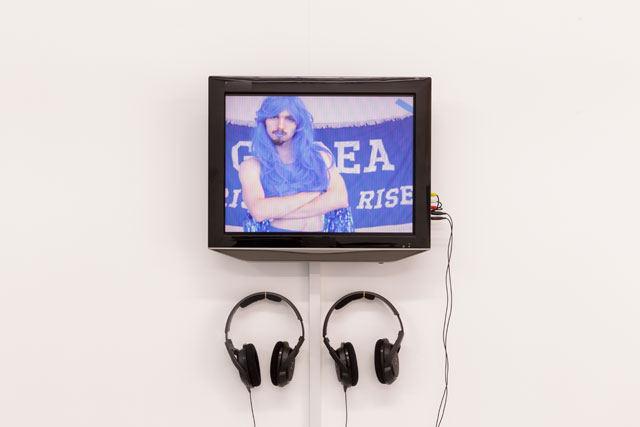 Liam Geary Baulch. Cheerleading Against Climate Change, 2017. Video with sound, 1 min 16 sec. Image courtesy of Tim Bowditch.