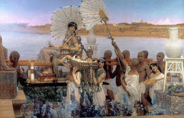 Sir Lawrence Alma-Tadema. The Finding of Moses, 1904. Oil on canvas, 137.7 x 213.4 cm. © Private Collection.