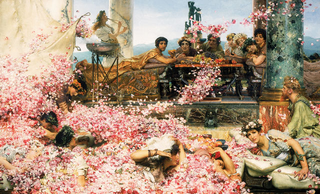 Sir Lawrence Alma-Tadema. The Roses of Heliogabalus, 1888. Oil on canvas, 132.7 x 214.4 cm. © Perez Simon Collection.
