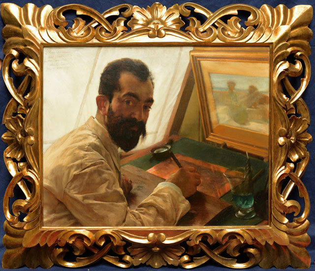 Sir Lawrence Alma-Tadema. Portrait of Leopold Lowenstam, the etcher, 1883. 52.1 x 64.7 cm. © Private Collection, England.