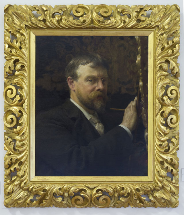 Sir Lawrence Alma-Tadema. Self-portrait of Lawrence Alma-Tadema, 1896. Oil on canvas, 66.5 x 53.9 cm. © Gallerie degli Uffizi, Florence.
