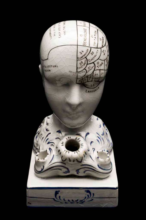 O for OBSOLETE KNOWLEDGE. Phrenological heads, late 19th, early 20th century © Science Museum/Wellcome Library.