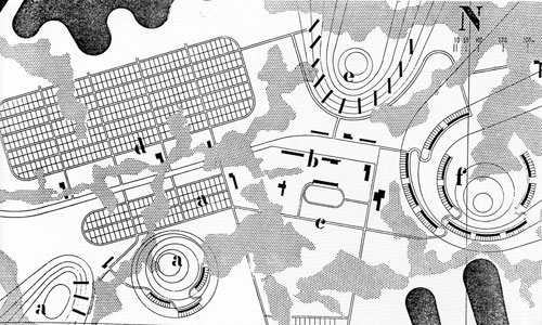 Architectural design research with MIT students: 'An American Town in Finland' (1940).