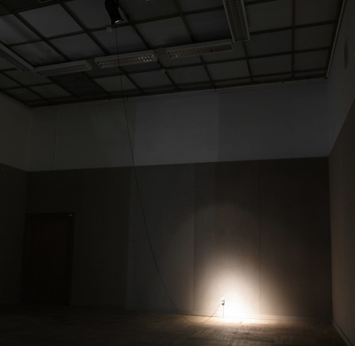 Zarouhie Abdalian and Joseph Rosenzweig. A Production, 2011. Spotlight, power cable, AC socket. Dimensions variable. Courtesy the artists.