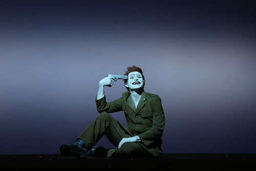 Willem Dafoe in The Life and Death of Marina Abramović at Park Avenue Armory (3). Photograph: Joan Marcus.