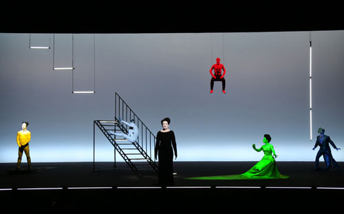 The Life and Death of Marina Abramović in performance at Park Avenue Armory (2). Photograph: Joan Marcus.