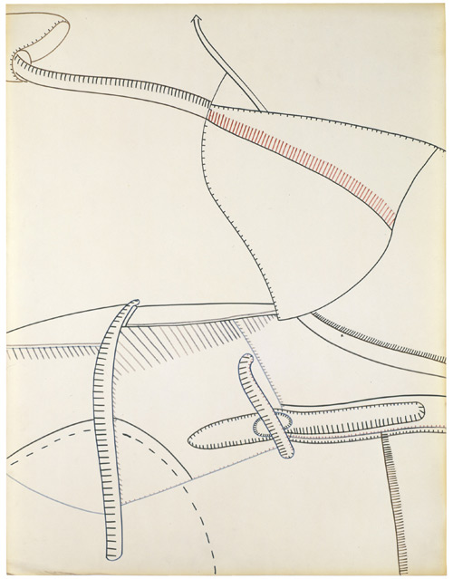Eva Hesse. No title, 1965. Ink on paper, 64.8 x 49.8 cm (25 1/2 x 19 5/8 in). © The Estate of Eva Hesse. Courtesy Hauser & Wirth.