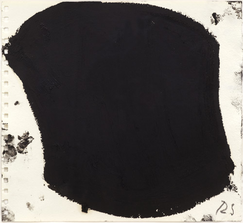 Richard Serra. Untitled, 2009. Paintstick, 27 x 25 cm (10 5/8 x 9 7/8 in). Courtesy Private collection, London. © Richard Serra