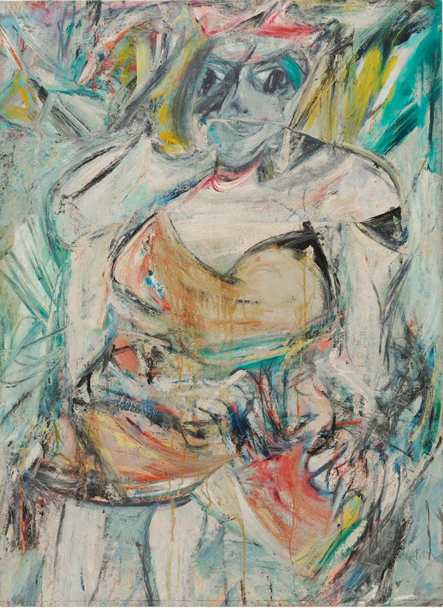 Willem De Kooning. Woman II, 1952. Oil, enamel and charcoal on canvas, 149.9 x 109.3 cm. The Museum of Modern Art, New York. © 2016 The Willem de Kooning Foundation / Artists Rights Society (ARS), New York and DACS, London 2016. 