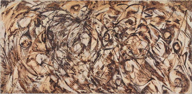 Lee Krasner. The Eye is the First Circle, 1960. Oil on canvas, 235.6 x 487.4 cm. Private collection, courtesy Robert Miller Gallery, New York. © ARS, NY and DACS, London 2016.