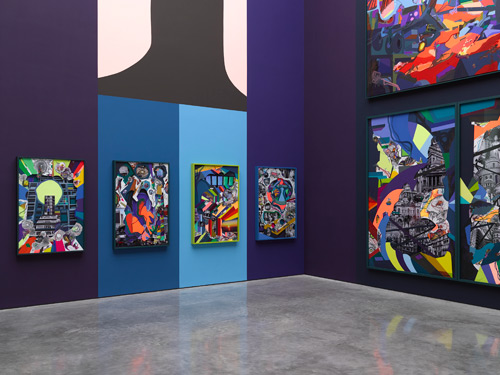Franz Ackermann, 9x9x9, 2014. © Franz Ackermann. Gallery view (1). Photograph: Jack Hems. Courtesy White Cube.