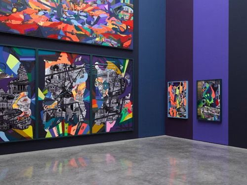 Franz Ackermann, 9x9x9, 2014. © Franz Ackermann. Gallery view (3). Photograph: Jack Hems. Courtesy White Cube.