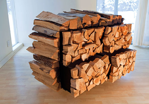 Mark Moskovitz. Faceword, 2012. Mixed hardwood, engineered lumber, various hardware, 91.4 x 139.7 x 50.8 cm. Courtesy of the artist. Photograph: Mark Moskovitz.